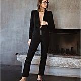 Danielle Bernstein Cropped Blazer and Zip-Up Pants