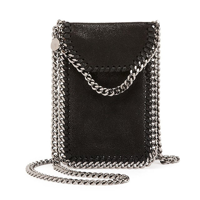 Stella McCartney Crossbody Bag Phone Holder w/Chain Trim ($560)