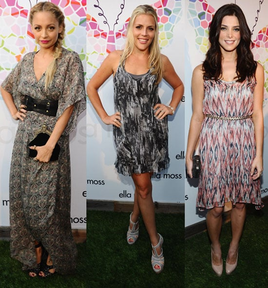 Nicole Richie and Ashley Greene Photos at Ella Moss Party