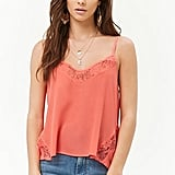 Embroidered Lace-Trim Swing Cami