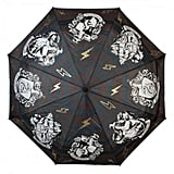 Harry Potter House Crests Liquid Reactive Color-Changing Compact Umbrella