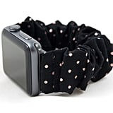 Rose Gold Polka Dot Scrunchie Watch Band