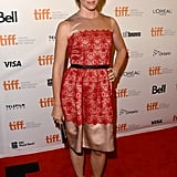 Jennifer Garner polished up in a red lace Dolce & Gabbana dress with nude detailing at the Dallas Buyers Club premiere.