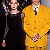 Winona Ryder et Johnny Depp en 1990