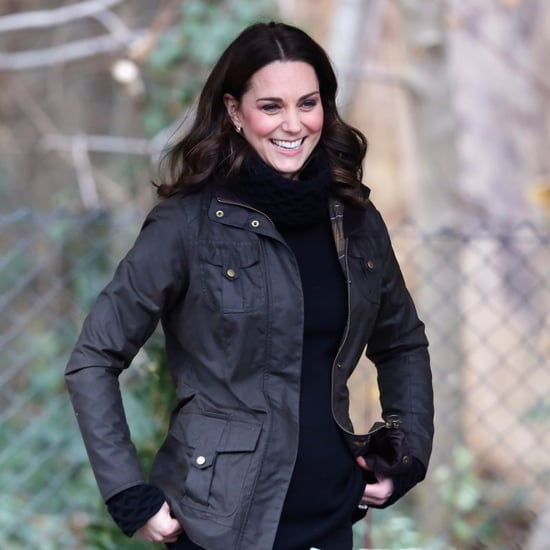 Kate Middleton Wearing Black Polo Neck Jumper