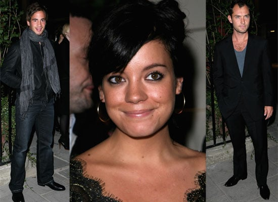 News Of Lily Allen's Album Release, Plus Photos From Dunhill Party Featuring Lily Allen, Jude Law, Danny Cipriani.