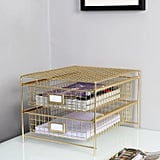 Gold Desktop Storage Drawer Set