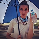 Rachael Finch armed herself with hydration for Melbourne's 43 degree weather this week. Source: Instagram user rachael_finch