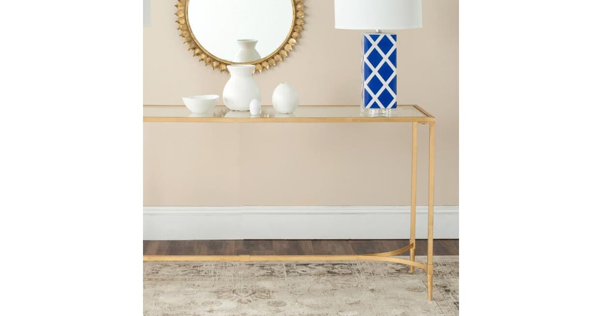 Picture of: Gold And Glass Top Nala Console Table Best Furniture From Cost Plus World Market Popsugar Home Australia Photo 6