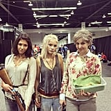Maggie, Beth, and Carol are ready to kick some serious butt at WonderCon. With cookies.