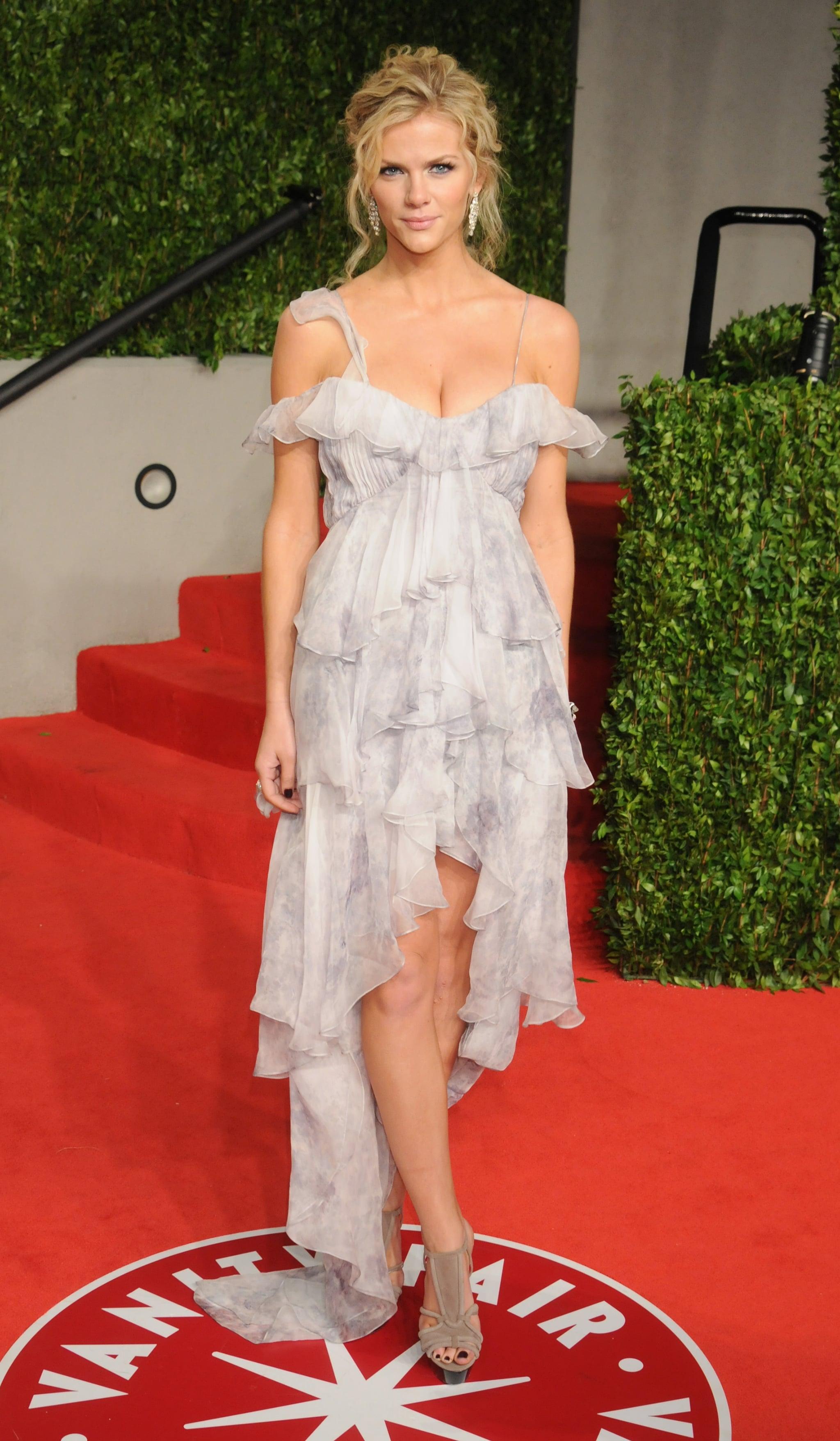 Brooklyn Decker in Ruffled Joy Cioci at 2011 Vanity Fair Oscars Party