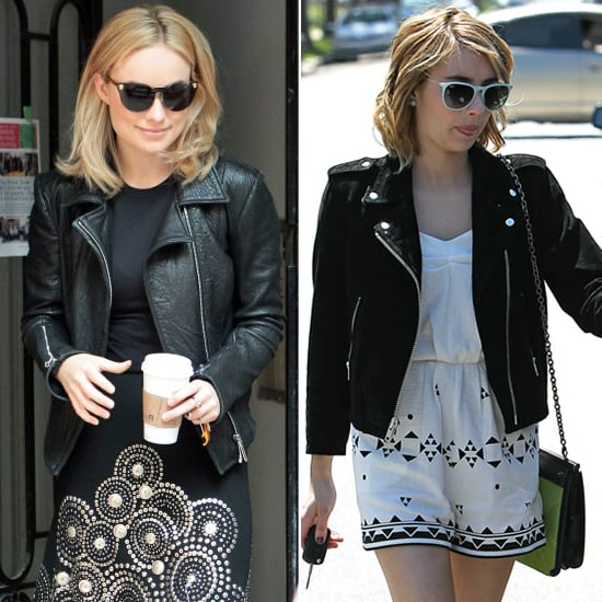 Celebrities in Leather Jackets | POPSUGAR Fashion