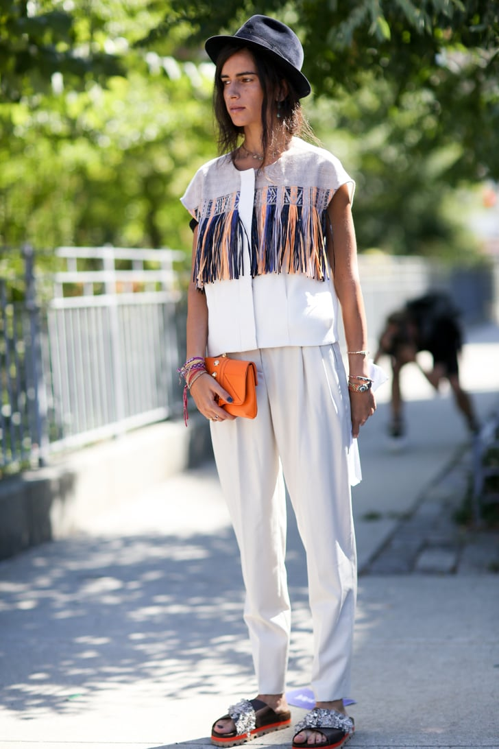Nyfw Street Style Day 7 Best Street Style At New York Fashion Week Spring 2015 Popsugar