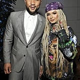 John Legend and Zhavia at the 2020 Sony Music Grammys Afterparty