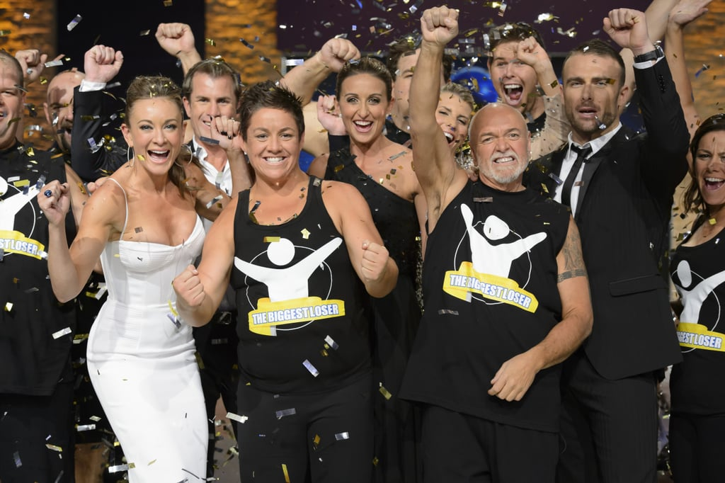 """Margie Cummins is the winner of The Biggest Loser: Singles! The 34-year-old entered the competition weighing in at 159.1kg and finished on 85.9kg, shedding 73.2kg over three months — that's 46.01 percent of her total body weight. The former elite athlete took home $220,000 cash as her prize ($30,000 was deducted when James took it after a game of Temptation earlier in the season) and she said, """"It will go straight into paying my mortgage and bills. A holiday with friends is also on the cards — to either Bali or Wategos beach — somewhere where I can go for a good surf!"""" Margie's victory was also a win for trainer Michelle Bridges. And while not everyone walked away with prize money, some contestants won in matters of the heart, with relationships blossoming between Lisa Ritherdon and Simon Hurley, and Michelle Cortesao and Hamish Elliott. Congrats to Margie on her Biggest Loser victory! Photos courtesy of Network Ten"""