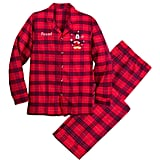 Mickey Mouse Holiday Plaid PJ Set for Adults