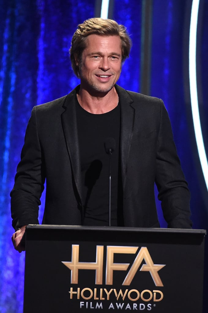 Brad spoke onstage at the Hollywood Film Awards in Nov. 2018.