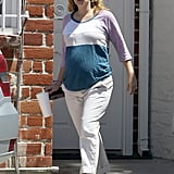 Drew Barrymore was spotted at a nail salon.