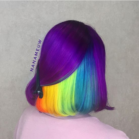 Purple Bob Has Hidden Rainbow Underneath