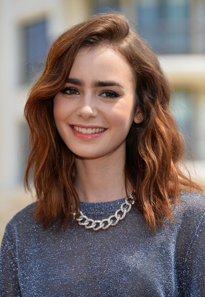 lily collins celebrities with the clavicut hairstyle