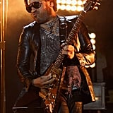 Lenny Kravitz performed on stage during the opening ceremony of the US Open.