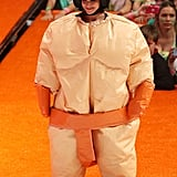 Home and Away star Rhiannon Fish looked comical in her sumo suit.