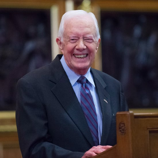 Jimmy Carter Shaking Hands on Delta Flight