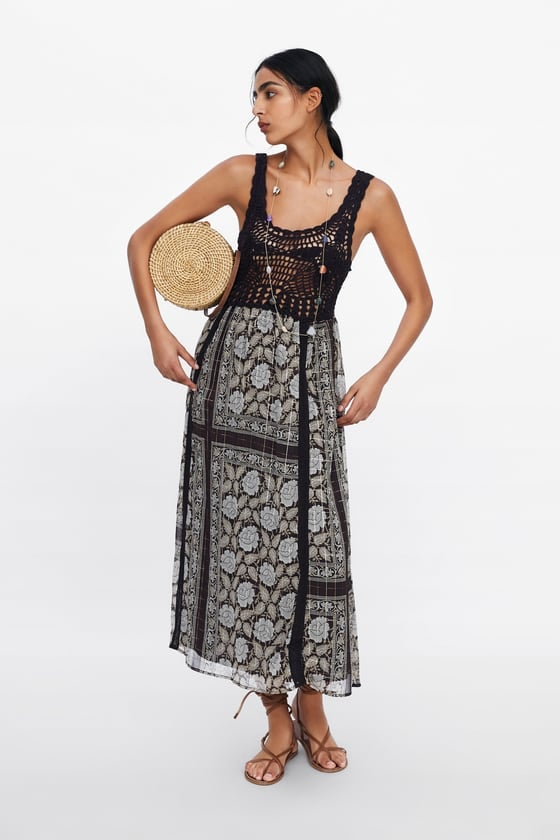 Metallic Thread Printed Dress