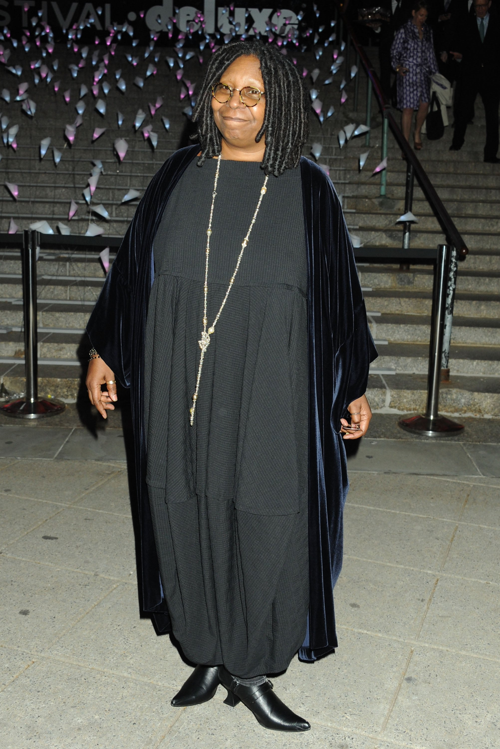 Whoopi Goldberg smiled for the cameras at Vanity Fair's party.
