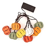 Wood Pumpkin LED String Lights