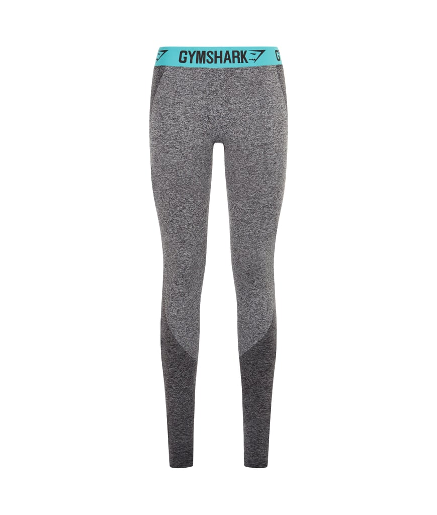 e972cc1d99b2b Gymshark Flex Leggings in Charcoal Marl and Pale Turquoise ( 38 ...