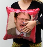 Dwight Schrute Sequin Pillows Are Now a Thing, and I Kinda, Sorta, Really Want One