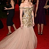 Scarlett attended the Costume Institute Gala at NYC's Metropolitan Museum in May 2012.