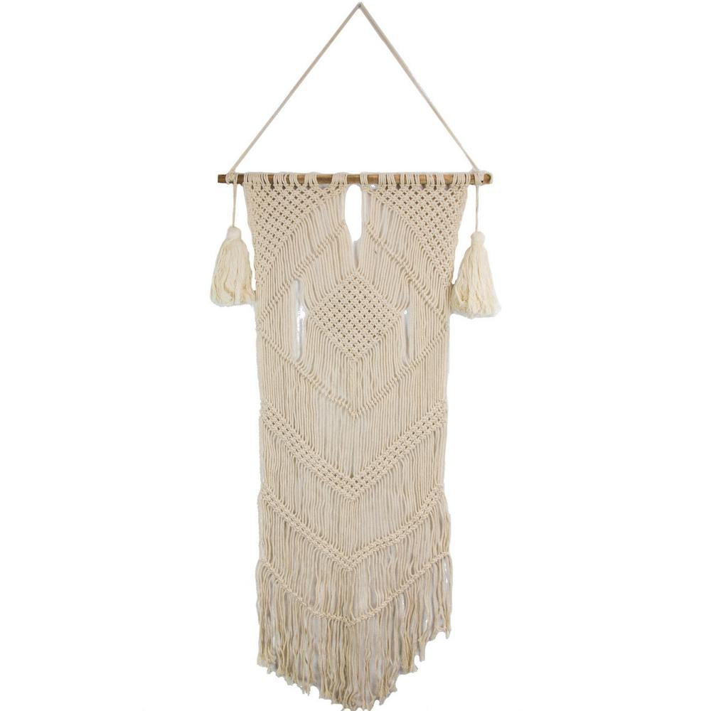 """Beige """"Diamond Macrame"""" by Marmont Hill Wall Tapestry"""
