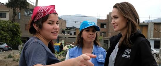 Angelina Jolie Helping Refugees in Peru October 2018