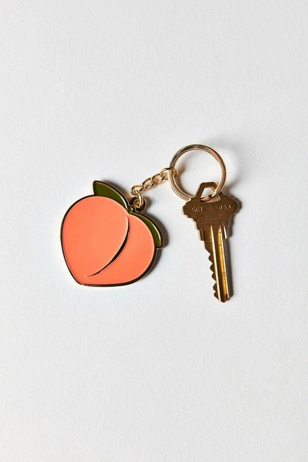 Peach Emoji Keychain