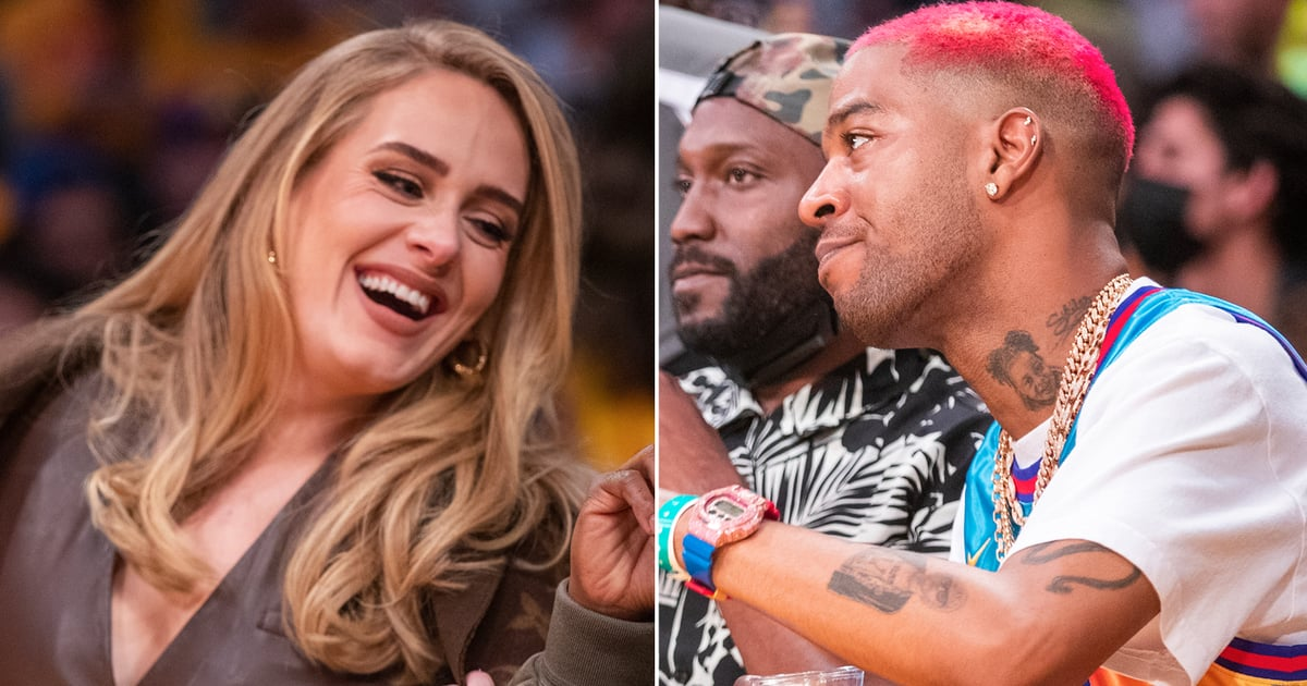 We Can't Stop Watching This Sweet Moment Between Adele and Kid Cudi at the Lakers Game.jpg