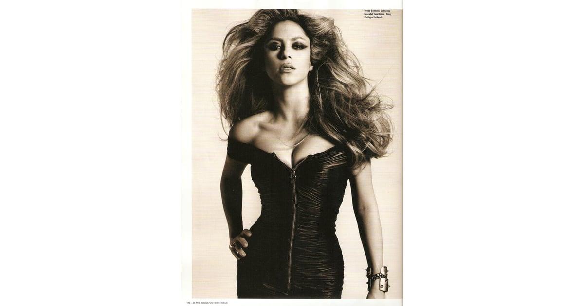 Shakira Does I D Magazine October 09 Popsugar Celebrity