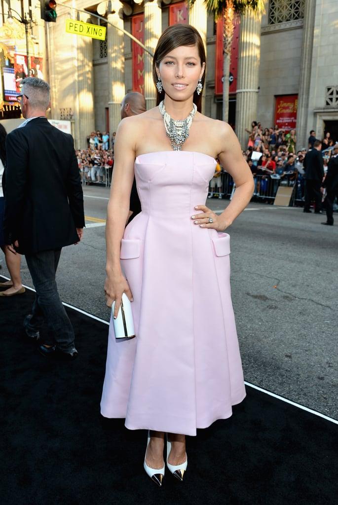 Jessica Biel in Pink Dior Gown
