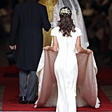Pippa's dress was also made by Alexander McQueen.