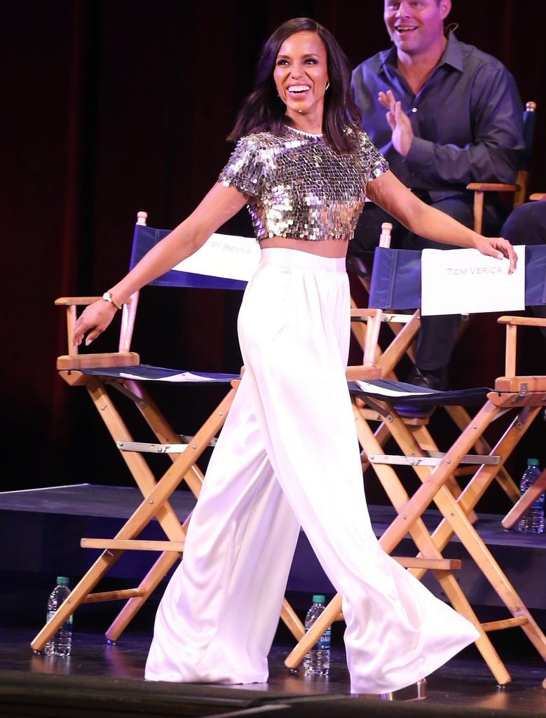Kerry Washington Gold Crop Top For Scandal Finale