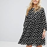 Alice & You All Over Floral Print Smock Dress With Frill Sleeve