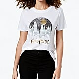 Modern Lux Harry Potter Hogwarts Metallic Graphic T-Shirt