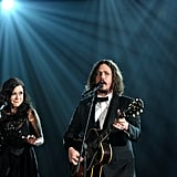 Joy and John Paul of The Civil Wars performed during the 2012 Grammys.