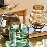 Green Glass Split Vase