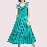 Kate Spade New York Poplin Ruffle Tiered Dress