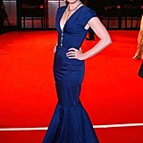 Amy Adams picked an understated, structured royal-blue fishtail dress by Roland Mouret for the Orange British Academy Film Awards in 2009.