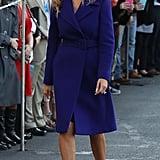 Melania in an Emilio Pucci Coat