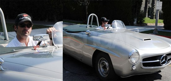 Photos of Patrick Dempsey in His Silver Mercedes