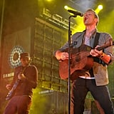 Coldplay performed a variety of old and new songs.